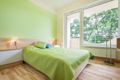 Green bedroom Stock Photos