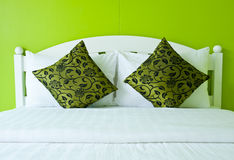 Green Bedroom in a modern house Stock Photography