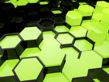 Green Beehive. 3D render of technology beehive Royalty Free Stock Images