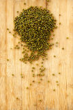 Green beens. Are on wooden background Stock Photos