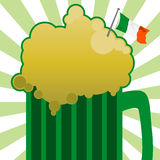 Green Beer. Illustration of a green beer for st patricks day Royalty Free Stock Images