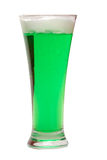 Green Beer. For St. Patrick's Day on white background royalty free stock image