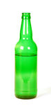 Green beer bottle Stock Photography