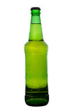 Green beer bottle. With cap and no labels Stock Images