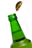 Green beer bottle Stock Photo