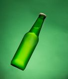 Green beer bottle. Royalty Free Stock Photography