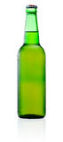 Green Beer Bottle with Condensation  on white Stock Photo