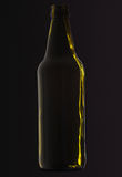 Green beer bottle Royalty Free Stock Images