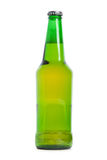 Green beer bottle isolated over white background Royalty Free Stock Photo