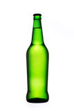 Green beer bottle isolated on white Royalty Free Stock Image