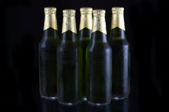 Green Beer Bottles Royalty Free Stock Images