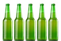 Green beer bottles Stock Photography