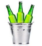 Green beer bottles Royalty Free Stock Photography