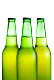 Green beer bottles isolated Royalty Free Stock Image