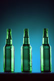 Green Beer Bottles Stock Image