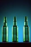 Green Beer Bottles Stock Image