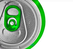 Green beer can isolated on white Royalty Free Stock Photography