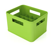 Green beer crate Royalty Free Stock Photos