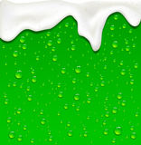 Green Beer drops Stock Photography