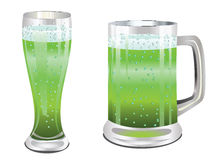Green beer glass Stock Photography