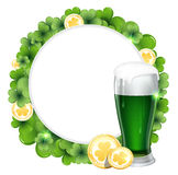 Green beer and gold coins Stock Photo