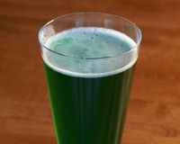 Green beer - horizontal Royalty Free Stock Photography