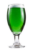 Green beer over white Royalty Free Stock Photography