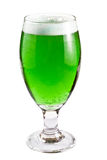 Green beer over white Royalty Free Stock Photo