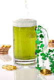 Green beer for St Patick's Day Royalty Free Stock Photos