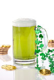 Green beer for St Patrick's Day Stock Photos