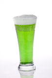 Green beer for St Patrick's Day. Glass of green beer for St Patrick's Day Stock Image