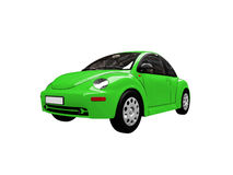 Green beetle car front view Royalty Free Stock Images