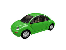 Green beetle car front view stock illustration
