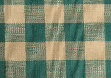 Green and beige checkered cloth. Royalty Free Stock Image