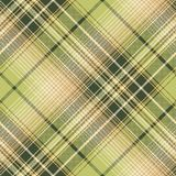 Green beige pixel check fabric texture seamless pattern. Vector illustration Royalty Free Stock Image