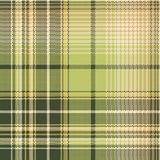 Green beige pixel check fabric texture seamless pattern. Vector illustration Stock Images