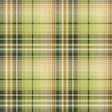 Green beige pixel check fabric texture seamless pattern. Vector illustration Stock Photos