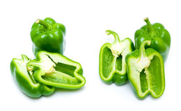 Green bell pepper  (clipping path)  Stock Images