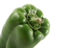 Green bell pepper close Stock Photography