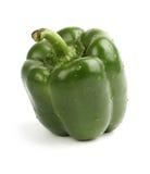 Green bell pepper stock photo