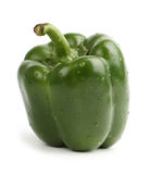 Green bell pepper. Fresh green bell pepper, isolated on a white background, (at ALL sizes) included Royalty Free Stock Photography