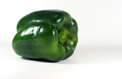 Green Bell Pepper - Isolated on White Stock Images