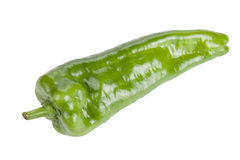 Green bell pepper long isolated on white background Royalty Free Stock Image