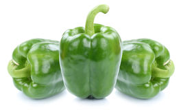Green bell pepper peppers paprika paprikas vegetable food isolat Stock Photography