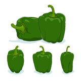 Green bell pepper,sweet pepper or capsicum Stock Photo
