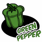 Green bell pepper Stock Images