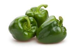 Green bell pepper Stock Images