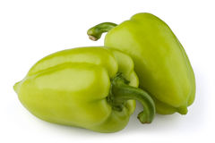 Green bell peppers Stock Image