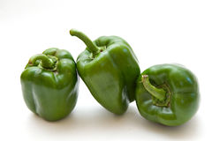 Green Bell Peppers Royalty Free Stock Images