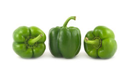 Green Bell peppers  close up Stock Photography